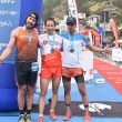 Podio masculino en la Matterhorn Ultraks 2018: Genís Zapater, Martin Anthamatten y Marc Casal