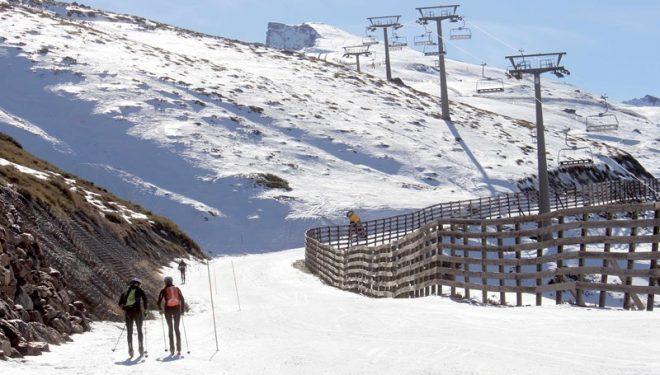 Primer itinerario de esquí de montaña en la estación de Sierra Nevada en enero de 2018