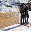 Cartel anunciador del nuevo itinerario de esquí de montaña en Sierra Nevada en enero de 2018