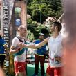 Iker Karrera y Juanjo Somohano en la meta del ultra DesafiOSOmiedo 2018