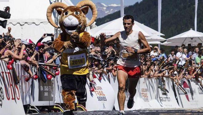 Kilian Jornet llega a meta ganador de su sexta Sierre Zinal (12 agosto 2018)