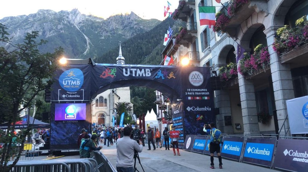 Salida de la primera prueba de la UTMB 2018