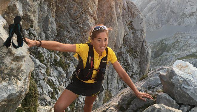 Sonia Regueiro en su récord en El Anillo de Picos en septiembre de 2018