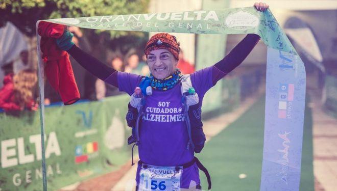 Rafi Román en la meta de las 100 Millas de la Gran Vuelta del Valle de Genal