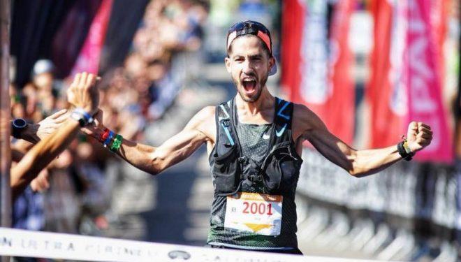 Pablo Villa en la meta de la Marató Pirineu 2018