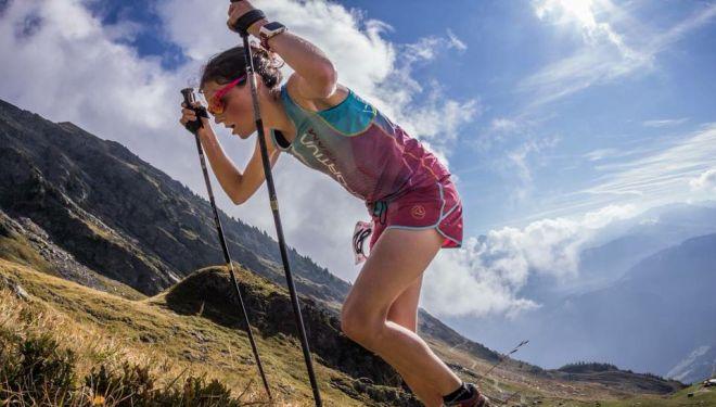 Axelle Mollaret en el Vertical du Grand Serre 2018, en el que batió el récord mundial femenino