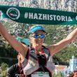 Beth Pascall tras proclamarse vencedora de Euráfrica Trail 2018