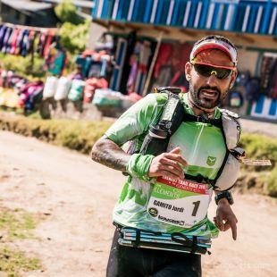 Jordi Gamito en la primera etapa de la Everest Trail Race 2018