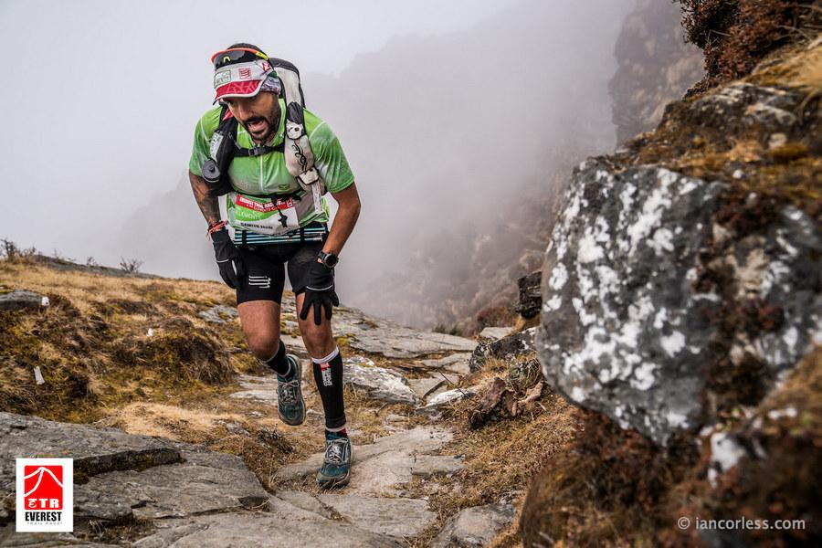 Jordi Gamito en la tercera etapa de la Everest Trail Race 2018