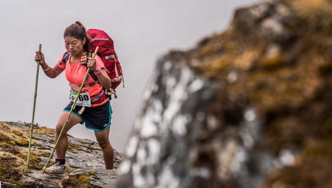 Purnimaya Rai en la tercera etapa del Everest Trail Race 2018