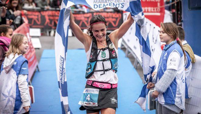 Silvia Puigarnau en el Marató dels Dements 2018, que ganó