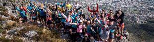 Foto de grupo en la final de las Golden Trail Series 2018 en Otter Trail Run