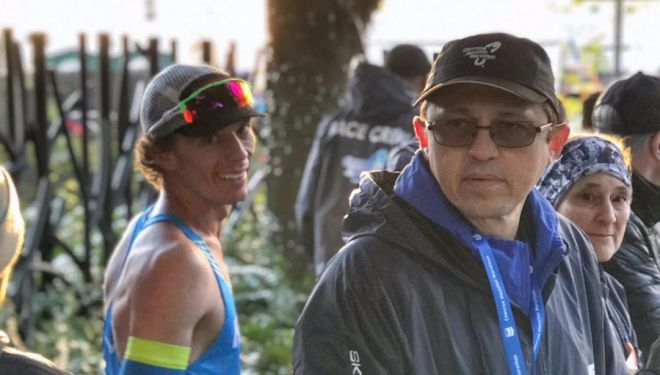 Jim Walmsley en el Houston Half Marathon 2019