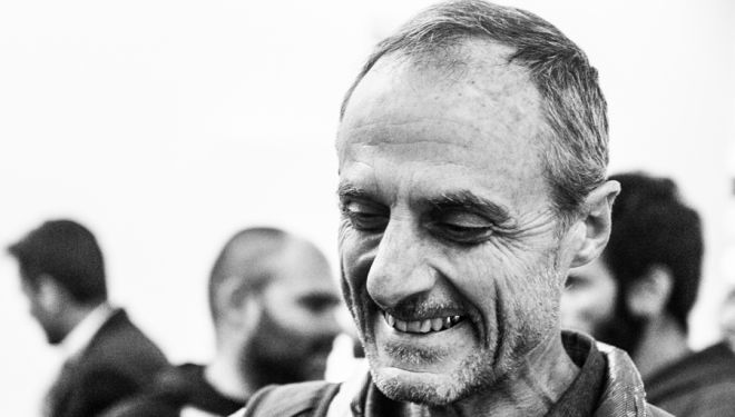 Michel Poletti en la gala de premios del Ultra-Trail World Tour 2018 en Barcelona