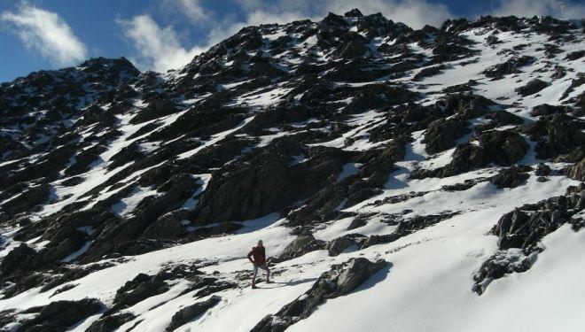 Sierra Nevada de Mérida, cara sur del Pico Espejo en agosto 2018