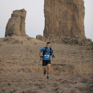 Pau Capell en el Roque Nublo en la Transgrancanaria 2019, que ganó