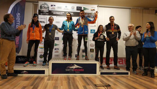 Podio del Campeonato de España de Snow Running 2019