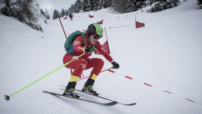 Clàudia Galicia en el Sprint de Le Dévoluy de la Copa del Mundo de Esquí de Montaña 2019