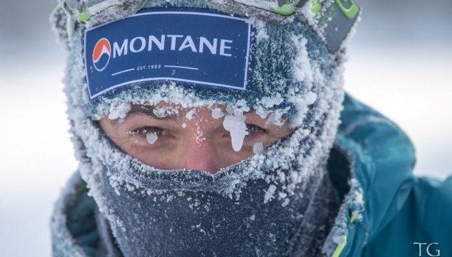 Pablo Criado en la Yukon Arctic Ultra 2019, en la que fue segundo