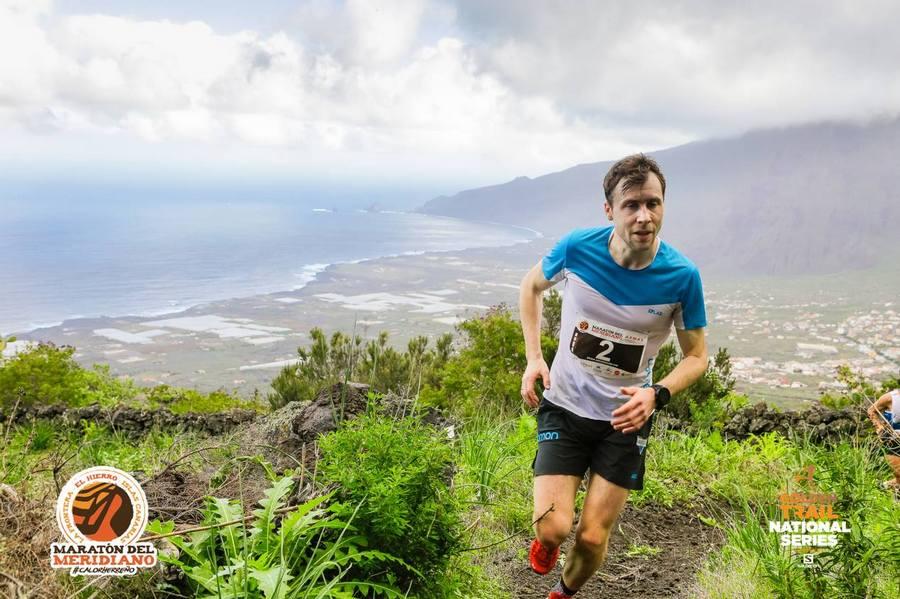 Stian Angermund-Vik en el Maratón del Meridiano 2018