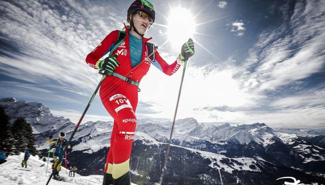 Clàudia Galicia en la prueba Individual del Campeonato del Mundo de Esquí de Montaña 2019