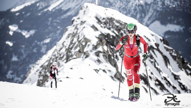 Clàudia Galicia en la Individual de Disentis, prueba de la Copa del Mundo de Esquí de Montaña 2019