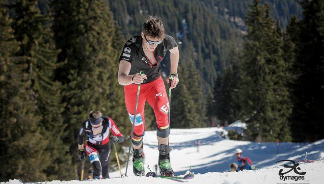 Oriol Cardona en la Copa del Mundo de Esquí de Montaña 2019 en Disentis