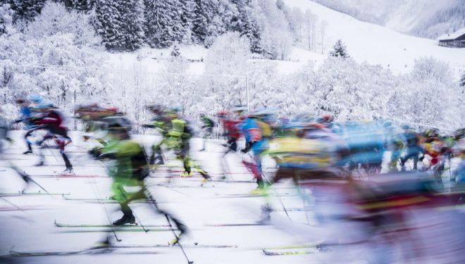 Esquiadores de montaña en la Pierra Menta 2019