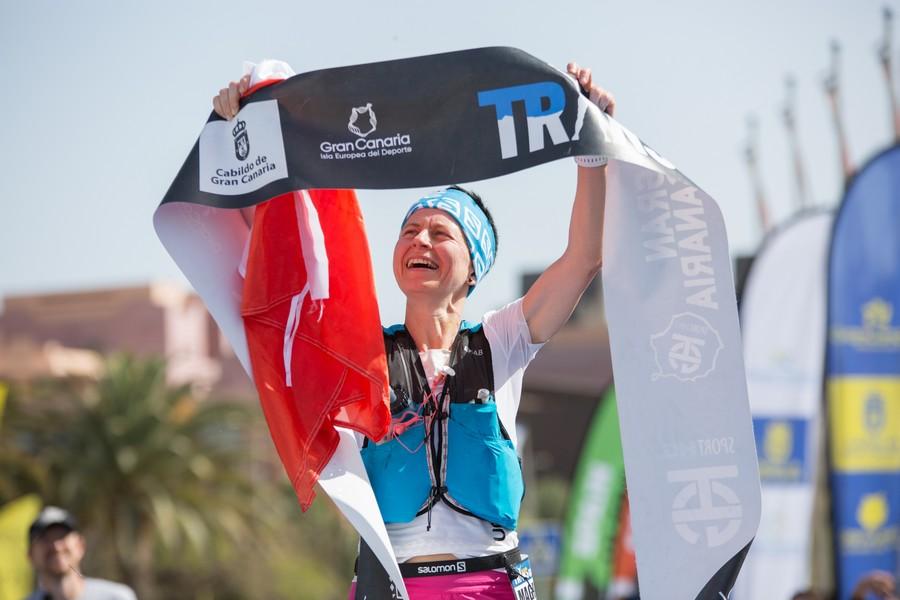 Magdalena Laczak en la Transgrancanaria 2019, que ganó