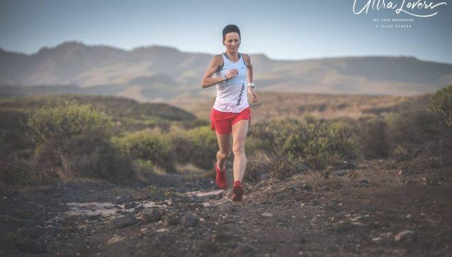 Magdalena Laczak preparando la Transgrancanaria 2019, que ganó