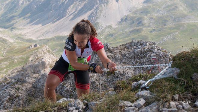 Una participante española en los Mundiales de Skyrunning 2018 en Italia