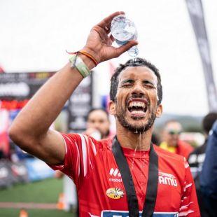Zaid Ait Malek en la meta de El Valle Trail 2019