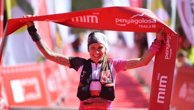 Azara García en la meta de la MiM 2019