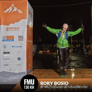 Rory Bosio en la meta de Ushuaia by UTMB 2019