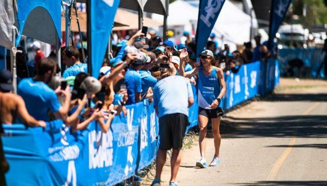 Jim Walmsley en su récord de las 50 millas en mayo de 2019