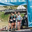 Podio femenino marathon du mont blanc 2019 42km.Igone Campos