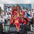 Los tres equipos nacionales ganadores. España venció en esta categoria en la última prueba del Campeonato de Europa de Skyrunning 2019 (Veia SkyRace® , Piamonte, Italia)