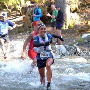 Blandine Lhirondel en el Mundial WMRA 2019, en la K42 Argentina. Foto de K42 Adventure Marathon