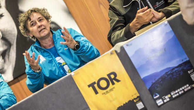 Alessandra Nicoletta, presidenta de VDA Trailers, en el Tor des Géants 2017