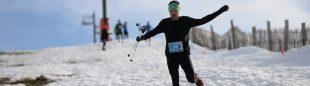 Miguel Heras en el Snowcross La Covatilla 2020, que ganó