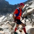 Javier Rodríguez Bodas enlazaba el 26 de julio 2020 el Aneto, Perdiguero, Posets y Perdido en poco más de 24 horas. En la foto amanecer llegando a la cumbre del Monte Perdido. En la foto ambiente de pedreras y rocas en gran parte del recorrido.