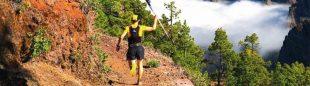 Corriendo por la crestería de la Caldera de Taburiente. La Palma