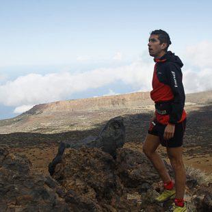 Manu Merillas en la ruta 0-4-0 al Teide en la víspera de su récord en diciembre de 2020