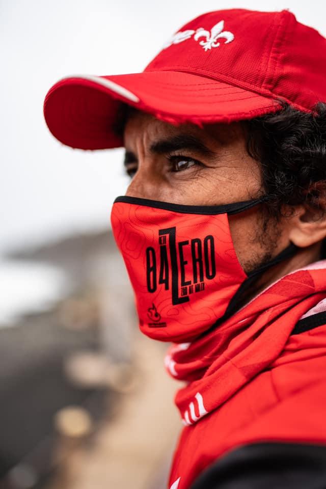 Zaid Ait Malek en la víspera de su intento al récord de la ruta 0-4-0 al Teide. Foto de José Miguel Muñoz