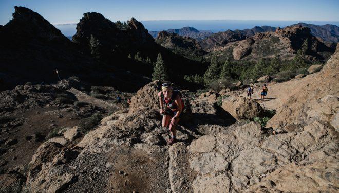 Dominique Van Mechgelen en la Fénix Trail 2021, que ganó