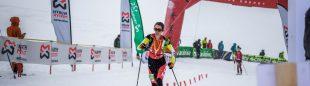 Marta García en la Vertical de Verbier, prueba de la Copa del Mundo de Esquí de Montaña 2020-21