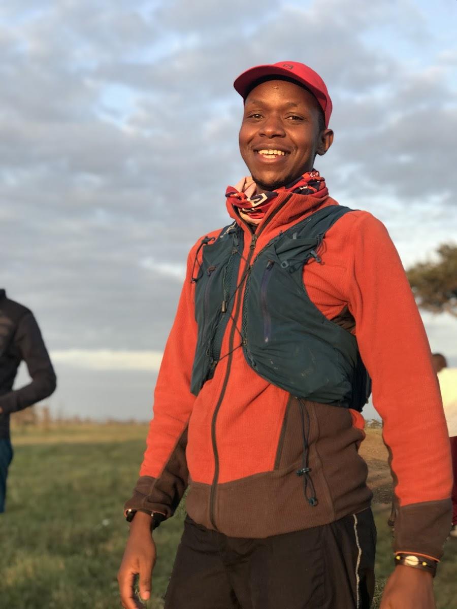 Cheruiyot Kirui en el Masai Mara Ultra Trail Marathon 2020