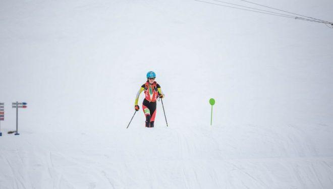 Marta García Farrés en la Copa del Mundo de Esquí de Montaña 2020-21 en Flaine (Francia)