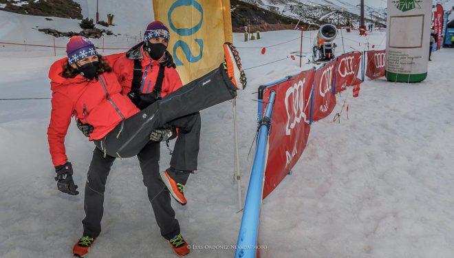 Pablo Ruiz de Almirón y Marién Lanz, de la organización del Snow Running Sierra Nevada 2021