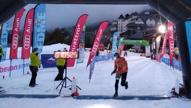 Eduard Hernández en la Snow Running Sierra Nevada 2021, en la que se proclamó campeón de España